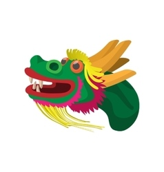 Head a chinese dragon icon cartoon style vector