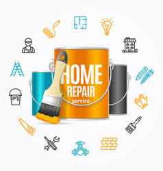 home repair concept witch building construction vector image vector image