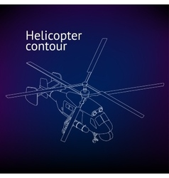 Isometric helicopter outline vector