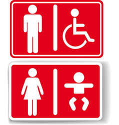 Restroom men women baby handicapped vector image