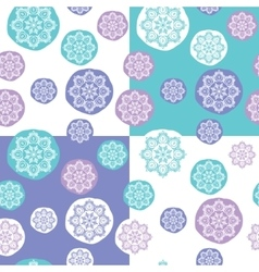 Seamless Pattern with Concentric Lace Circles vector image