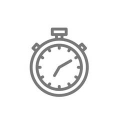 Simple stopwatch and timer line icon symbol and vector