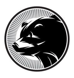 Sport pattern monochrome logo with bear vector