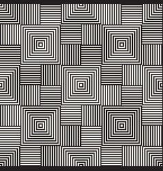 Stylish lines maze lattice ethnic monochrome vector