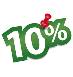 Ten percent sticker vector image