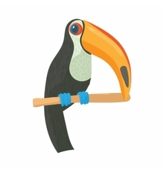 Toucan icon cartoon style vector image vector image