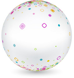 white ball with geometric pattern vector image