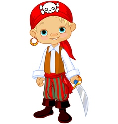 Pirate kid vector