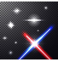 Laser beams vector