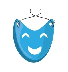 Blue mask happy theater graphic vector