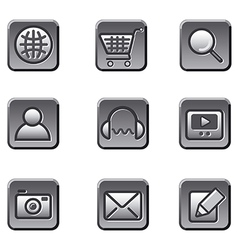 Website buttons icon set vector
