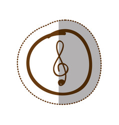 Symbol music sign icon vector