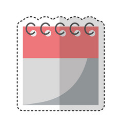Calendar date isolated icon vector