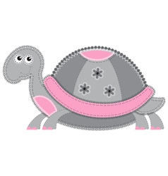 Cute cartoon isolated fabric animal turtle vector