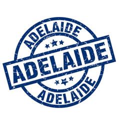 Adelaide blue round grunge stamp vector