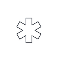 Medical sign thin line icon linear symbol vector