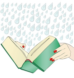 A moving book vector