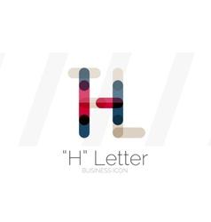 H letter logo minimal line design vector image