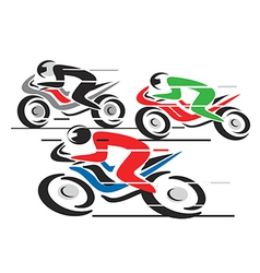 Motorcycle race vector