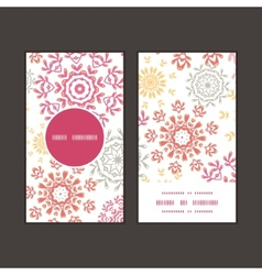 Folk floral circles abstract vertical round vector
