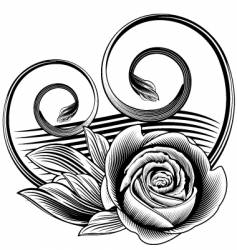 Ornamental rose vector