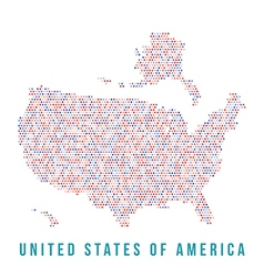 Usa map square pixels white background vector