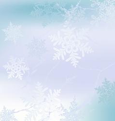 Winter horizontal banner vector image