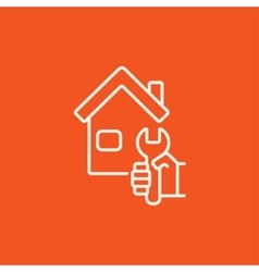 House repair line icon vector