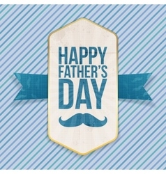 Happy fathers day festive poster with ribbon vector