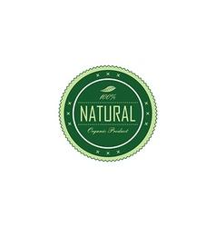 Fresh eco friendly green theme label vector