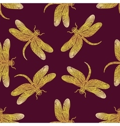 Seamless pattern with golden shiny vector