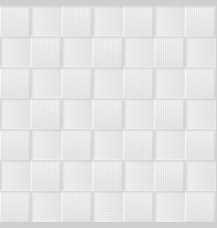 Abstract grey white material with squares vector