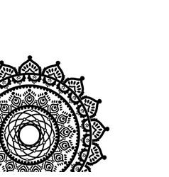 asian culture and henna tattoo inspired mandala 1 vector image