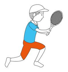 avatar man playing tennis vector image