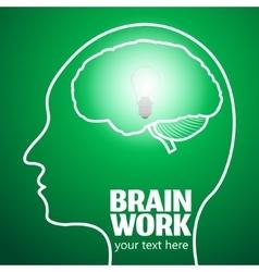 Brain work 1 vector