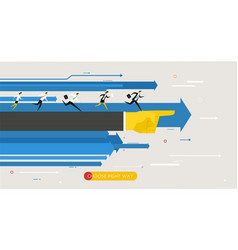 businessmans runs forward to success vector image vector image
