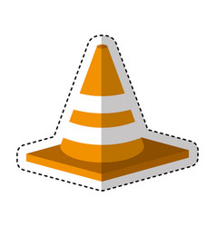 construction cone isometric icon vector image vector image