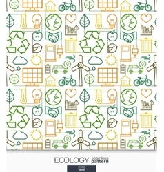 Ecology wallpaper Green energy connected seamless vector image vector image