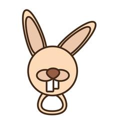 face rabbit cartoon animal vector image vector image