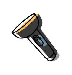 flashlight isolated symbol vector image vector image