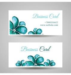 FlowerBusinessCard vector image
