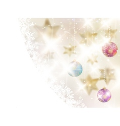 Golden lights and stars christmas background vector