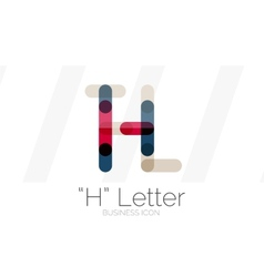 H letter logo minimal line design vector
