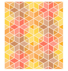 hexagon and triangle colorful geometric seamless vector image vector image