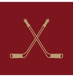 Hockey icon sport symbol flat vector