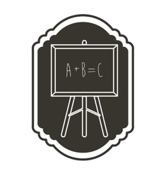 Isolated blackboard of school concept design vector