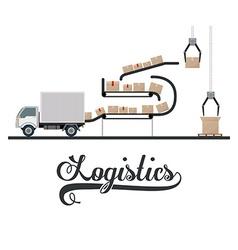 Logistics design vector image