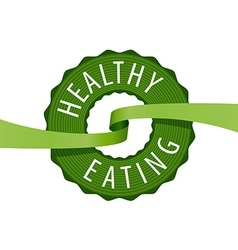 Logo stamped healthy eating vector