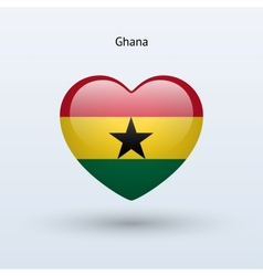 Love Ghana symbol Heart flag icon vector image vector image