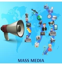 Mass media poster vector
